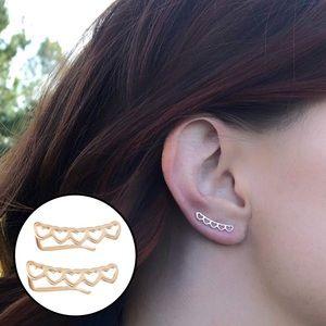 🆕 Heart Ear Climber Earrings